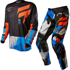 Shift 2015 Motocross Pants Jersey Strike Army Cyan Enduro Cross MTB Quad