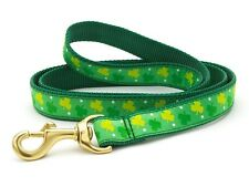 Any Size - Up Country - MADE IN USA -Designer Dog Puppy Leash - Shamrock