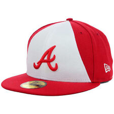 Atlanta Braves MLB Split Time New Era 59Fifty Fitted Flat Bill Brim Hat Cap Lid
