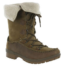 Merrell Emery Brown Otter Lace Leather High Fur Lined Winter Womens Boots
