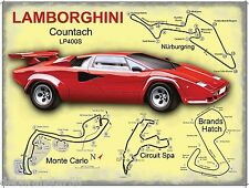 Lamborghini Countach Vintage Retro Gargar Advertising Metal Tin Sign New