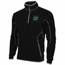 Mens North Dakota Antigua Black Ice Quarter-Zip Fleece Jacket - College
