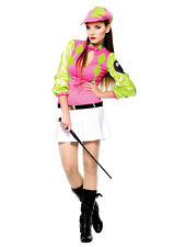Adult Sexy Ladies Horse Racing Sport Jockey Derby Darlin Fancy Dress Outfit New