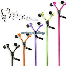 Zipper 3.5mm In-Ear Earbud Earphone Headset Headphone Fit iPhone Samsung LG Sony