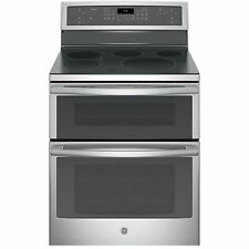GE Black on Black Profile 30-inch Free-standing Electric Convection Range with W