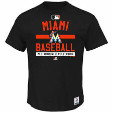 Miami Marlins Majestic Authentic Collection Team Property T-Shirt - Black - MLB