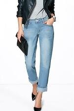 Boohoo Womens Molly Low Rise Mid Blue Mom Jeans
