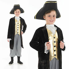 Childrens Young Gentleman Fancy Dress Costume Renaissance Man Outfit 4-12 Yrs