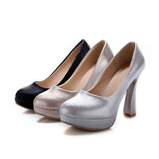 Women's Synthetic Leather Party Shoes Platform High Heels Pumps AU All Size s021