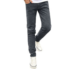Men Mid Rise Zip Fly Slim Fit Trousers w Pockets