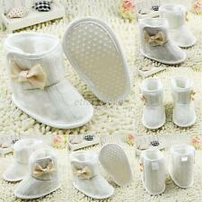 Toddler Baby Girls Warm Knitted Snow Boots Crib Shoes Size Newborn to 18 Months