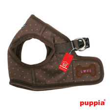 Any Size - PUPPIA -DOTTY - Soft Dog Puppy Harness Vest - Brown