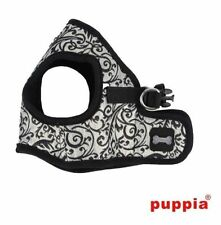 Dog Puppy Harness Soft Vest- Puppia - Gala ll - Black - Choose Size