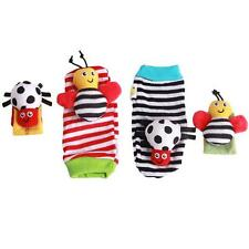 Hotsell Infant Baby Animal Wrist Foot Socks Rattles Developmental Toys Finders S