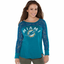 Miami Dolphins Touch by Alyssa Milano Women's Playoff T-Shirt - Aqua - NFL
