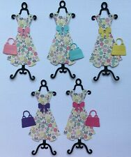 Dress Sets on Stands Die Cut Shapes - Assorted Sets of 5 for Toppers, Cards etc
