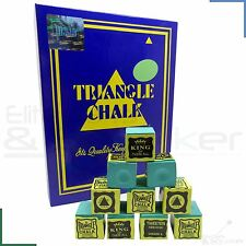 Triangle Snooker Pool Billiards Cue Tip Chalk Green 12 - 144 Cubes