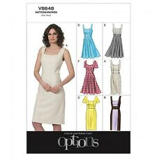 Vogue Ladies Easy Sewing Pattern 8648 Lined Fitted Dresses (Vogue-8648-M)