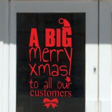 CHRISTMAS RETAIL Stickers Merry Xmas Vinyl Shop Window Sticker Business vinyl