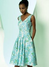 Free UK P&P - Vogue Ladies Easy Sewing Pattern 8997 Dresses with Cup Size...