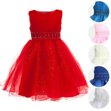 """Girls Ripple Tulle Bodice Lace """"Juno"""" Party Dress Formal Wedding Bridesmaid"""