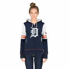 Detroit Tigers Majestic Women's Big Time Attitude Full-Zip Hoodie - Navy - MLB