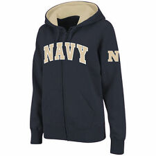 Women's Stadium Athletic Navy Navy Midshipmen Arched Name Full-Zip Hoodie