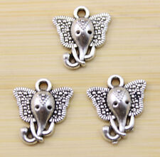 30/60/100 pcs  very beautiful The elephant head Tibet silver charms Pendant