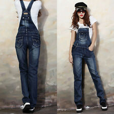 Womens Jeans Lady Denim Dungarees Trousers Jumpsuit Playsuit Pants UK Size 6-16