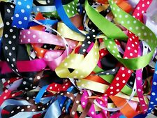 2m Berisfords Satin Polka Dot Spotty Ribbon 15mm & 25mm Various Colours