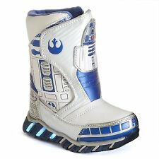 STAR WARS R2-D2 Light-Up Waterproof Insulated Snow Boots Sz. 11, 12, 13 or 1 $55