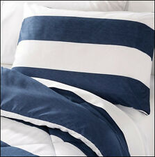 5 / 7 pc Circo Reversible COMFORTER & SHEET Set  RUGBY Denim BLUE & WHITE Stripe