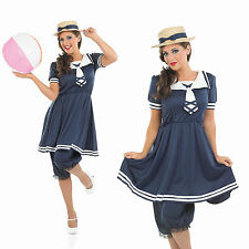 Ladies Old Time Bathing Suit Fancy Dress Costume Victorian 1920S Outfit UK 8-30