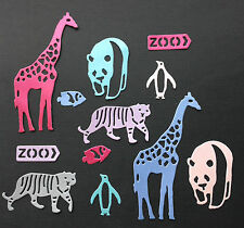 Zoo Animals Die Cuts - Assorted Colours in sets of 12
