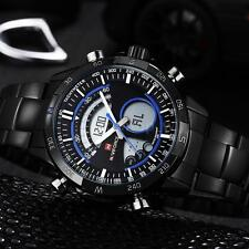New Mens Military Sport Watch Waterproof Chronograph Date Dual Time Watches Q6M4