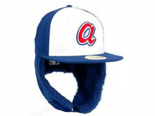 Atlanta Braves Dogear Down Ear Flap MLB Cooperstown Retro Fitted Hat Cap Vintage