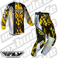 Fly Racing Kinetic Pants + Jersey yellow black Motocross Enduro Cross MTB Quad