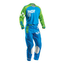 THOR Motocross trousers + Jersey 2016 - Phase Ramble - blue-green