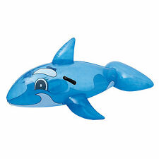 """Bestway Inflatable Transparent Whale Ride-On Pool Float - 62"""" x 37"""""""