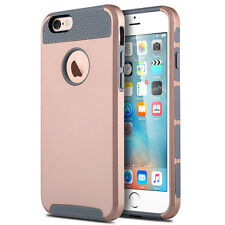 Grey Rose Gold Hybrid Rugged Rubber Hard Shockproof Case Cover Dual Layer Rubber