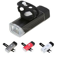 Front Led Light Head Lamp Flashlight Headlight Bike Bicycle Cycling Safety W3S7