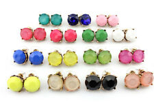 Crystal Dot Studs Sweet Girl Cute Studs Bright Candy Color Dot Stud Earrings