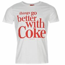 Coca Cola Mens T Shirt Short Sleeve Crew Neck Tee Top Large Front Print