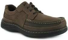 New Mens/Gents Brown Leather Hush Puppies Lace Up Casual Shoes. UK SIZES