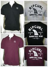 New Rip Curl Mens Polo Shirt Tee #14 -Black, Burgundy, Grey - Size M or S