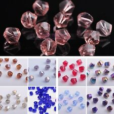 Wholesale 20pcs 8mm Twist Helix Faceted Crystal Glass Loose Spacer Beads Charms
