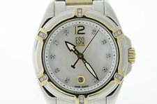 ESQ Ladies Torrent 07101308 Two-Tone Stainless Diamond Mother Pearl Watch