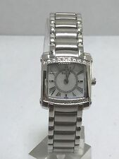 Women's Bulova 96R56 Stainless Steel Bracelet Diamond Accented MOP Dial Watch