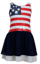 Bonnie Jean Girls Red White Blue American Flag Patriotic 4th of July Dress 7_16