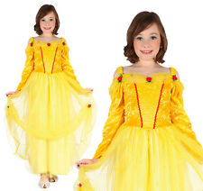 Childrens Yellow Princess Fancy Dress Outfit Belle Costume Book Week 3-8 Yrs
